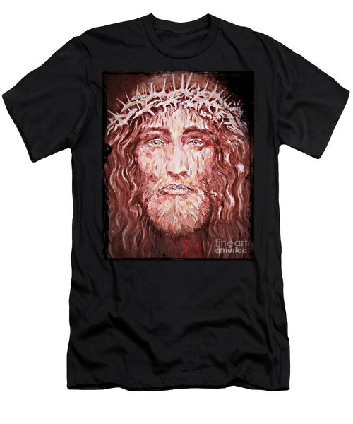 The Most Loved Jesus Christ Men's T-Shirt (Slim Fit) by AmaS Art