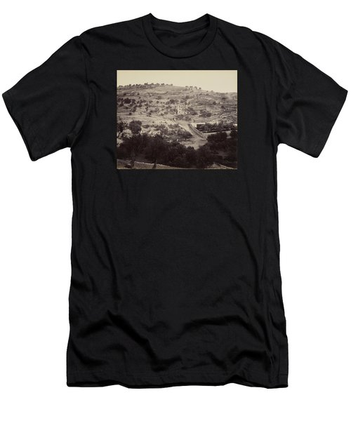 The Mount Of Olives And Garden Of Gethsemane Men's T-Shirt (Athletic Fit)