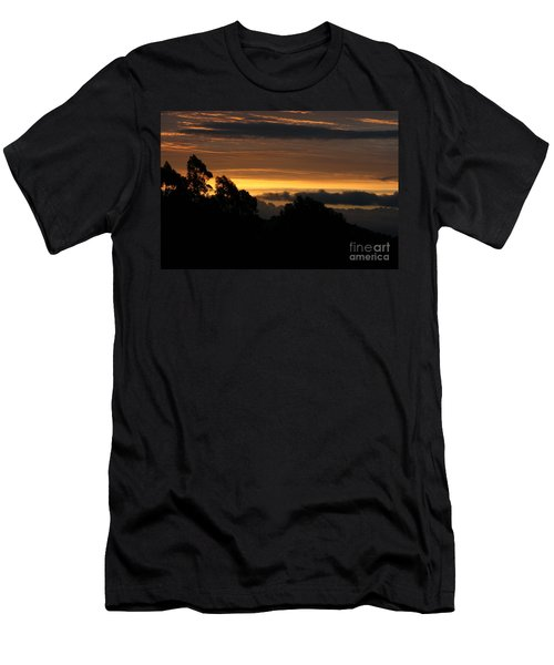 Men's T-Shirt (Athletic Fit) featuring the photograph The Mountain At Sunrise by Cynthia Marcopulos