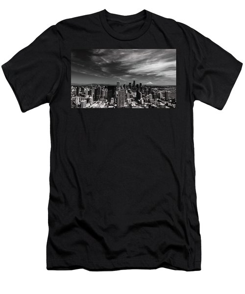 Men's T-Shirt (Athletic Fit) featuring the photograph The Mountain Is Out by Stephen Holst