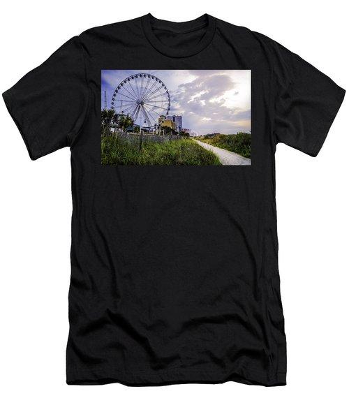 The Myrtle Beach, South Carolina Skywheel At Sunrise. Men's T-Shirt (Athletic Fit)