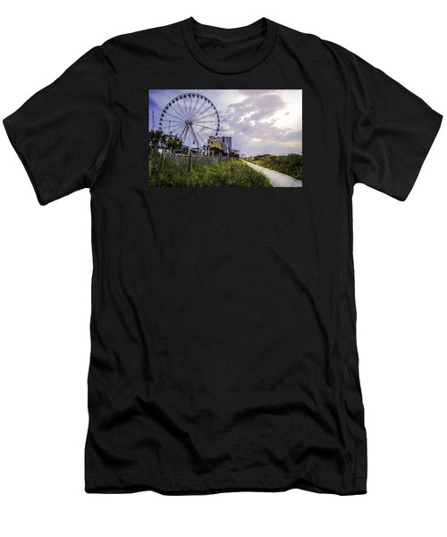 The Myrtle Beach, South Carolina Skywheel At Sunrise. Men's T-Shirt (Athletic Fit)