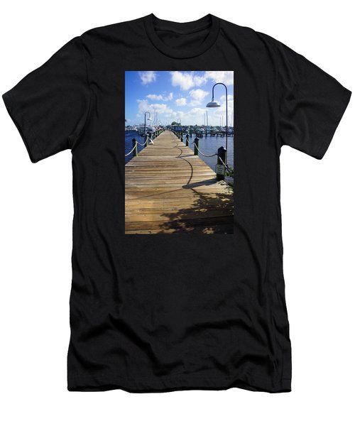 The Naples City Dock Men's T-Shirt (Slim Fit) by Robb Stan