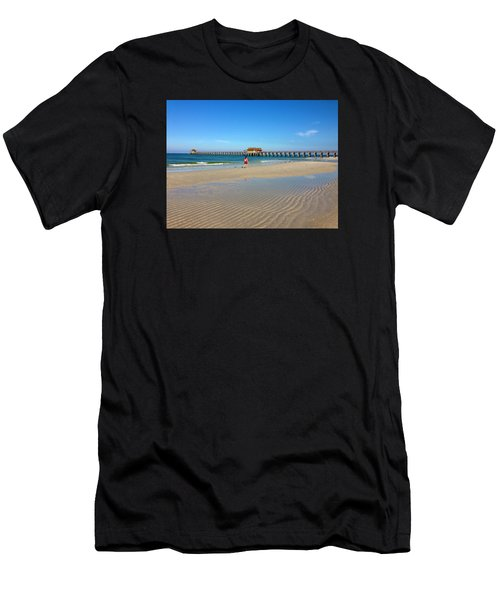 The Naples Pier At Low Tide Men's T-Shirt (Athletic Fit)
