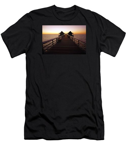 The Naples Pier At Twilight - 01 Men's T-Shirt (Athletic Fit)