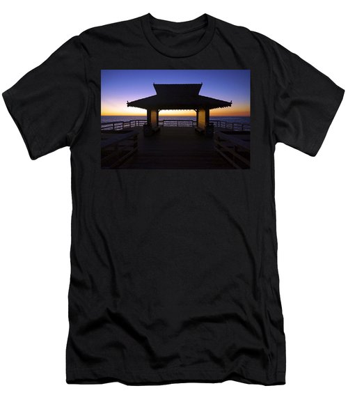 The Naples Pier At Twilight - 02 Men's T-Shirt (Athletic Fit)