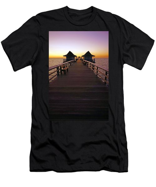 The Naples Pier At Twilight Men's T-Shirt (Athletic Fit)