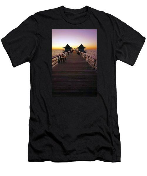 The Naples Pier At Twilight Men's T-Shirt (Athletic Fit)