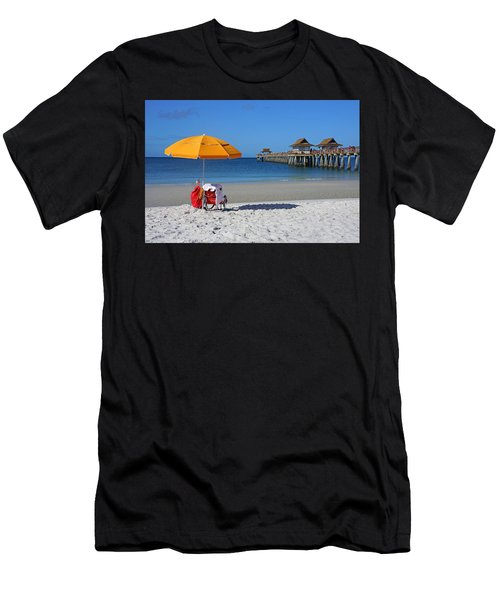 The Naples Pier Men's T-Shirt (Athletic Fit)