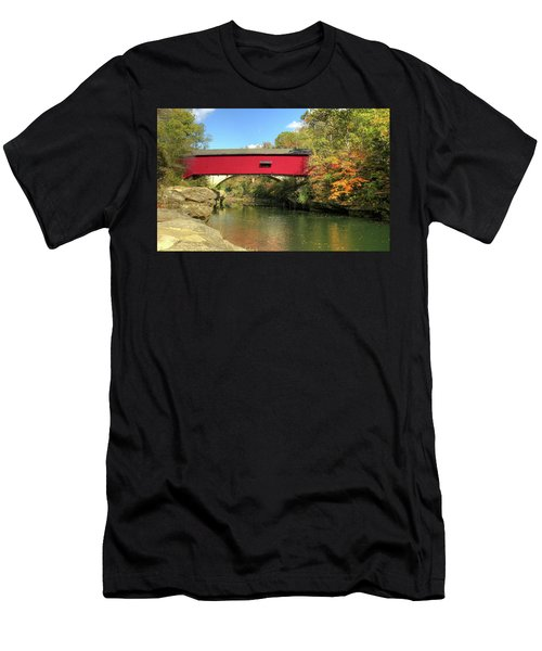 The Narrows Covered Bridge - Sideview Men's T-Shirt (Slim Fit) by Harold Rau