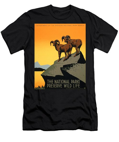 The National Parks Poster Men's T-Shirt (Athletic Fit)