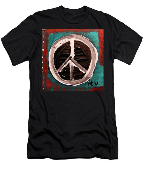 Men's T-Shirt (Slim Fit) featuring the painting The Need Continues by Mary Carol Williams