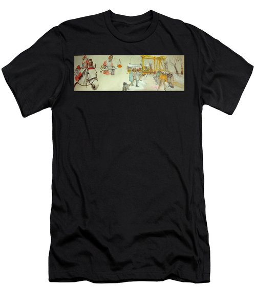 the Netherlands scroll Men's T-Shirt (Athletic Fit)