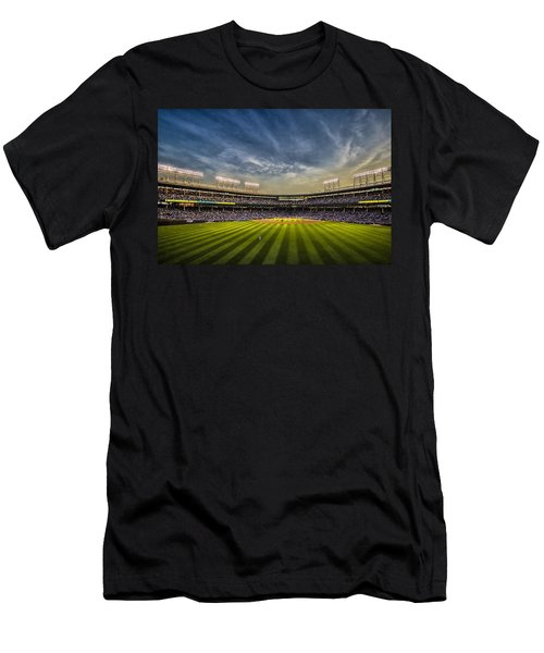 The New Wrigley Field With Pretty Sunset Sky Men's T-Shirt (Athletic Fit)