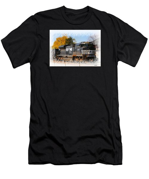 Men's T-Shirt (Slim Fit) featuring the photograph The Norfolk Southern by Robert Pearson