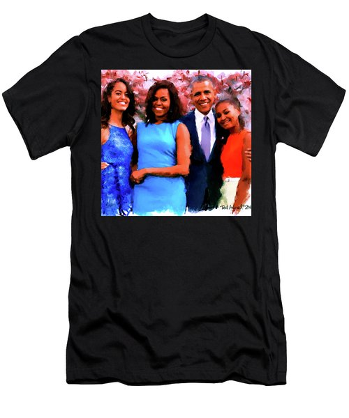 The Obama Family Men's T-Shirt (Slim Fit) by Ted Azriel