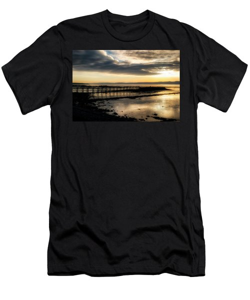 The Old Pier In Culross, Scotland Men's T-Shirt (Athletic Fit)
