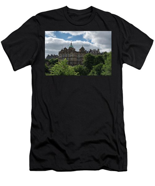 Men's T-Shirt (Athletic Fit) featuring the photograph The Old Town In Edinburgh by Jeremy Lavender Photography