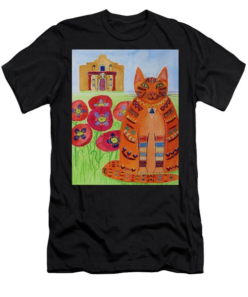 the Orange Alamo Cat Men's T-Shirt (Athletic Fit)