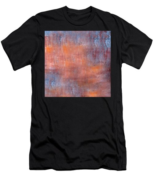 Men's T-Shirt (Athletic Fit) featuring the digital art The Orange Fog by Mihaela Stancu