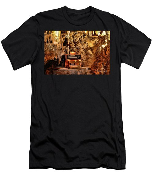 The Organ In Luray Caverns Men's T-Shirt (Slim Fit) by Paul Ward