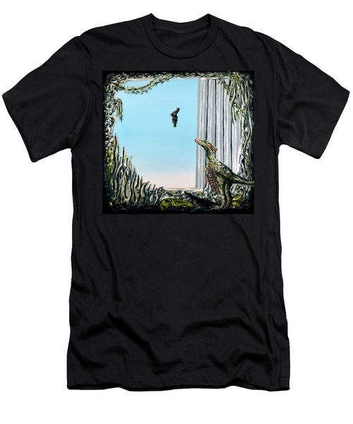 Men's T-Shirt (Athletic Fit) featuring the painting The Origin Of Species -a Recurring Pattern- by Ryan Demaree