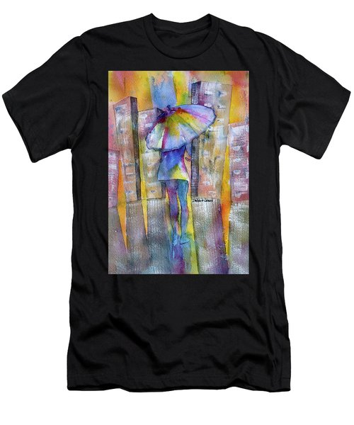 The Other Girl In The City Men's T-Shirt (Athletic Fit)