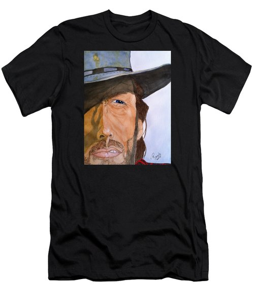 Men's T-Shirt (Slim Fit) featuring the painting The Outlaw Josey Wales by Rand Swift