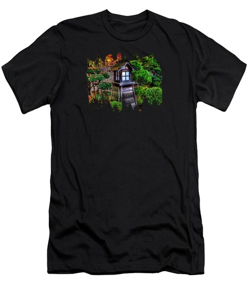 Men's T-Shirt (Slim Fit) featuring the photograph The Pagoda At The Japanese Gardens by Thom Zehrfeld