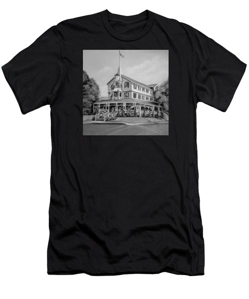 The Parker House Black And White Men's T-Shirt (Athletic Fit)