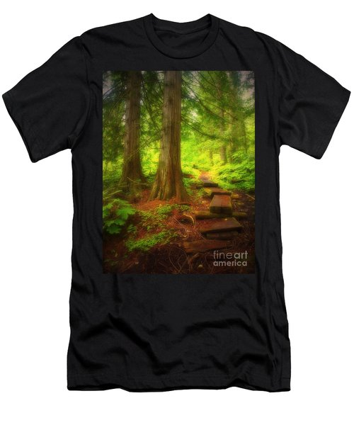 The Path Through The Forest Men's T-Shirt (Athletic Fit)