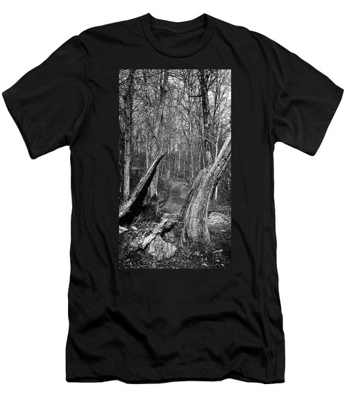 The Path Through The Woods Bandw Men's T-Shirt (Athletic Fit)