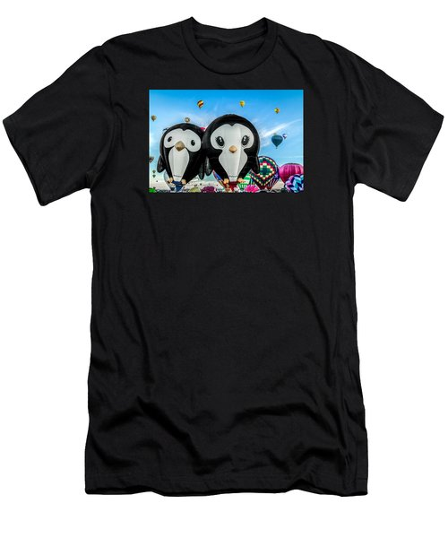 Puddles And Splash - The Penguin Hot Air Balloons Men's T-Shirt (Athletic Fit)