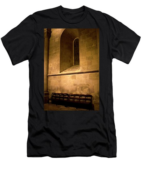 Men's T-Shirt (Athletic Fit) featuring the photograph The Pew by Lorraine Devon Wilke