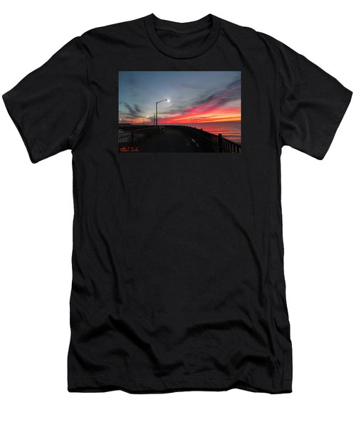 Men's T-Shirt (Slim Fit) featuring the photograph The Pier by Michael Rucker