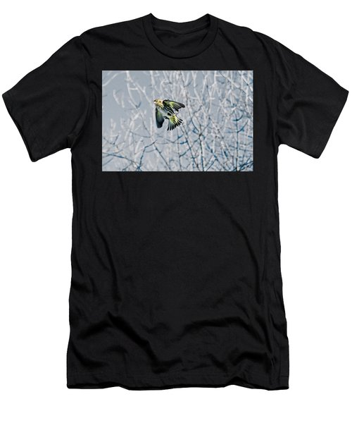 The Pine Siskin In-flight Men's T-Shirt (Athletic Fit)