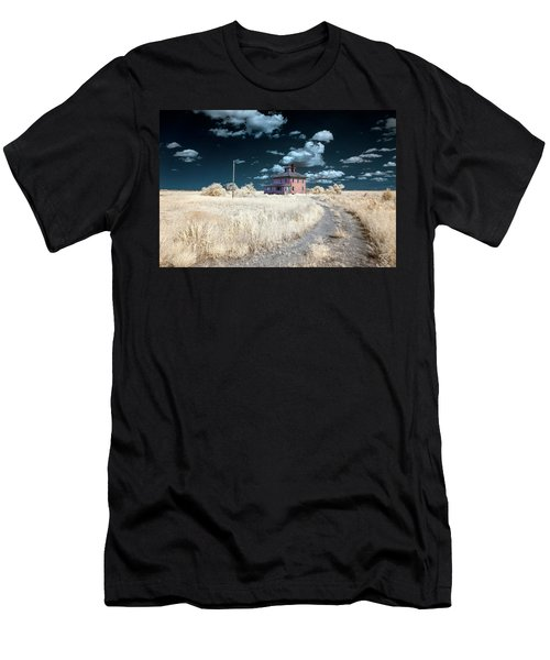 Men's T-Shirt (Athletic Fit) featuring the photograph The Pink House In Halespectrum 1 by Brian Hale