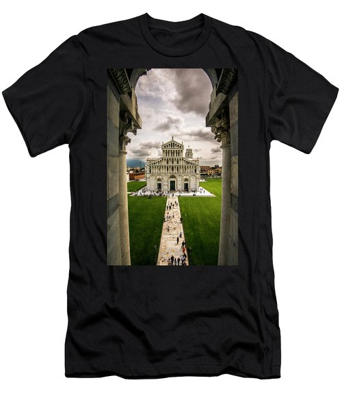 The Pisa Cathedral From The Bapistry Men's T-Shirt (Athletic Fit)