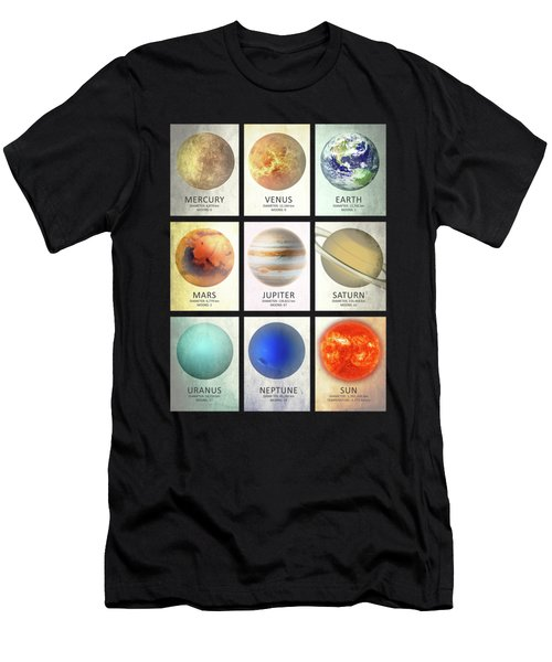 The Planets Men's T-Shirt (Slim Fit) by Mark Rogan
