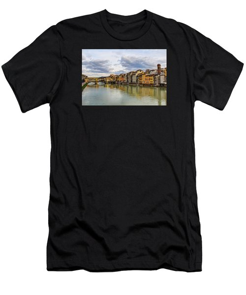 The Ponte Vecchio And Florence Men's T-Shirt (Athletic Fit)
