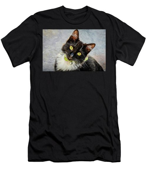 The Portrait Of A Cat Men's T-Shirt (Athletic Fit)