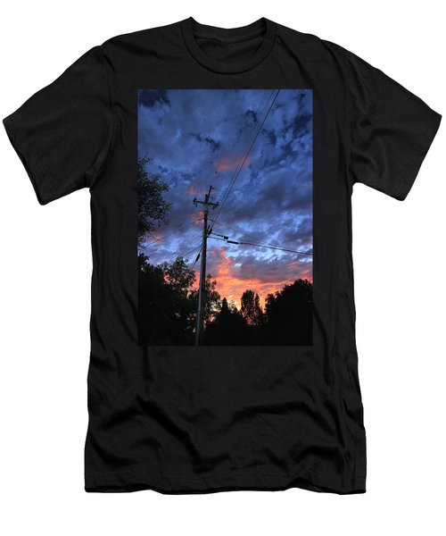 Men's T-Shirt (Athletic Fit) featuring the photograph The Power Of Sunset by Sean Sarsfield