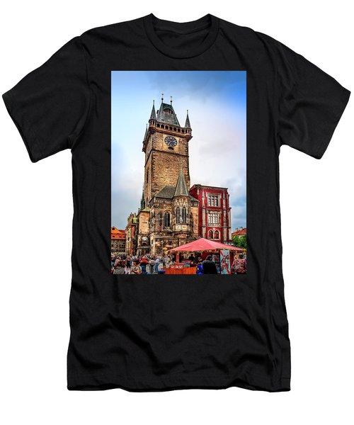 The Prague Clock Tower Men's T-Shirt (Athletic Fit)