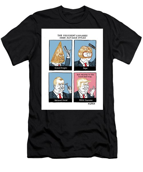 The President Explores Some Alt-hair Styles Men's T-Shirt (Athletic Fit)