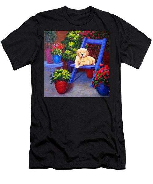 The Puppy In The Garden Men's T-Shirt (Athletic Fit)
