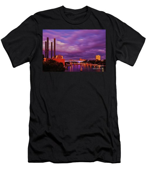 Men's T-Shirt (Athletic Fit) featuring the photograph The Purple People Eaters Of Minneapolis, Minnesota by Sam Antonio Photography