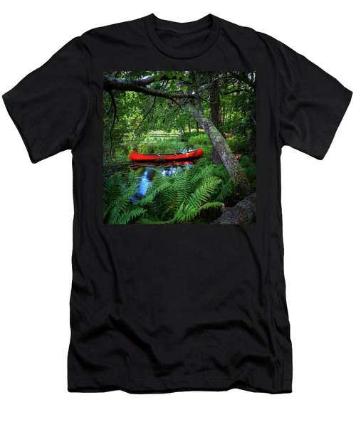 The Red Canoe On The Lake Men's T-Shirt (Athletic Fit)