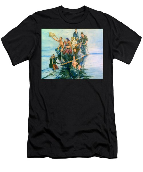 The Refugees Seek The Shore Men's T-Shirt (Athletic Fit)