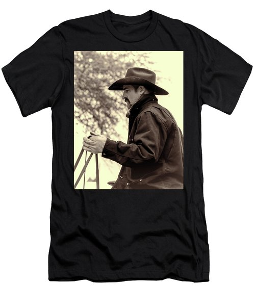 Men's T-Shirt (Athletic Fit) featuring the photograph The Reins  by Jeanne May