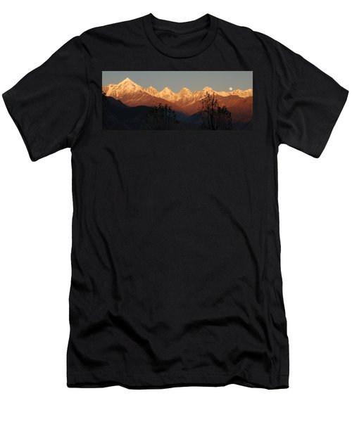 The Rendezvous. A Panorama. Men's T-Shirt (Slim Fit) by Fotosas Photography